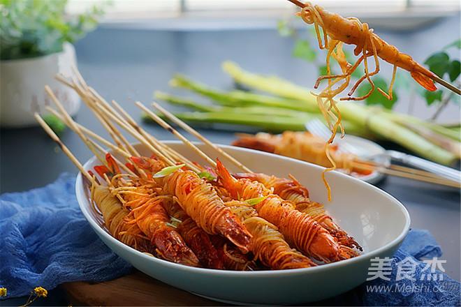霸王超市丨金丝虾串怎样炒
