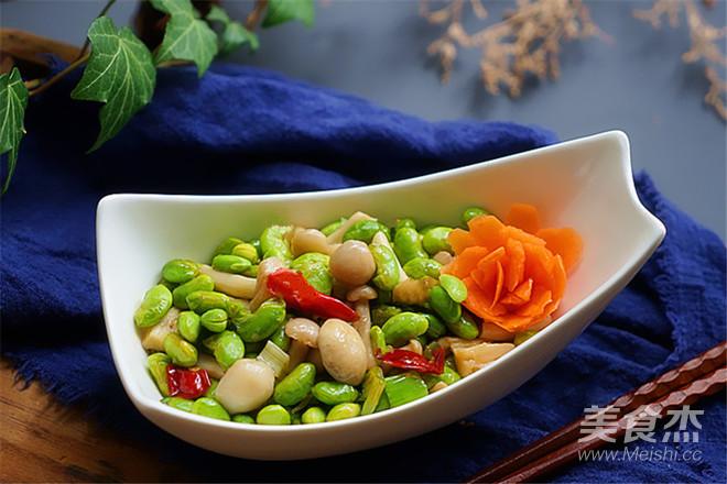 海鲜菇蚝油炒毛豆怎么炖