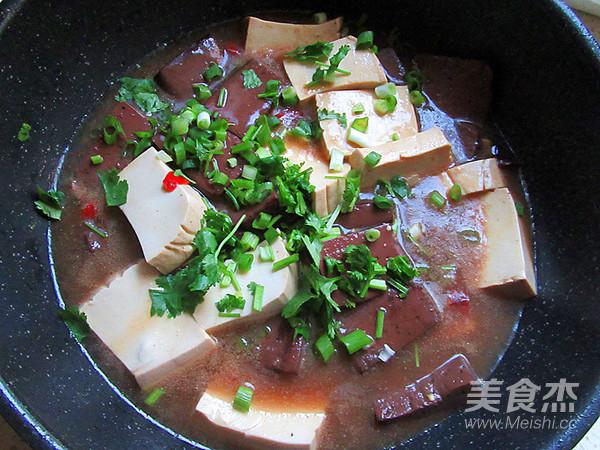 猪血炖豆腐怎么炒