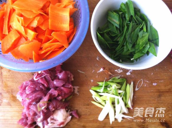 胡萝卜炒肉的做法大全