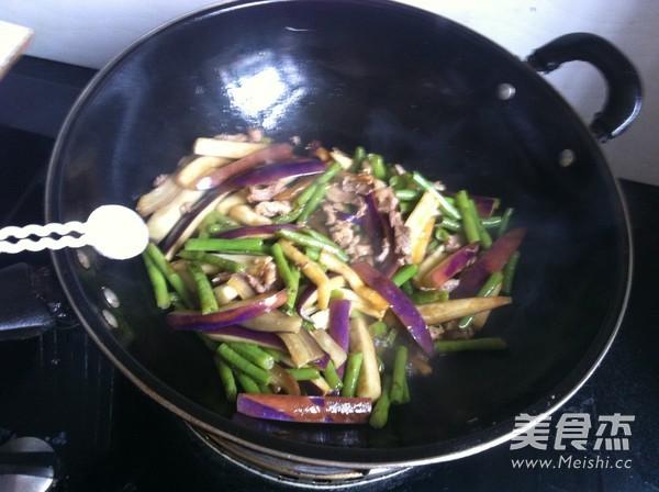 茄子豇豆炒肉怎么煮