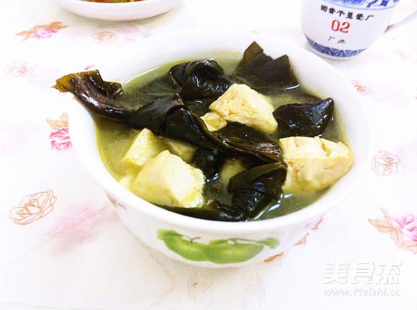 海带结豆腐汤成品图