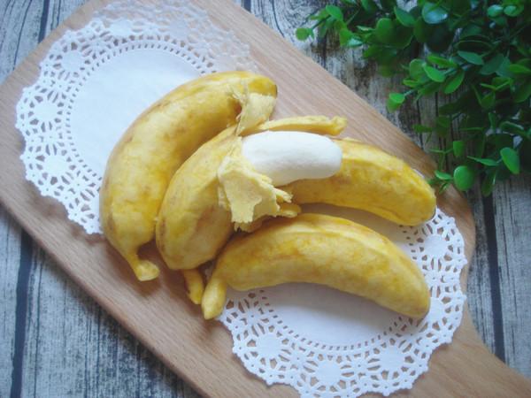 仿香蕉馒头成品图