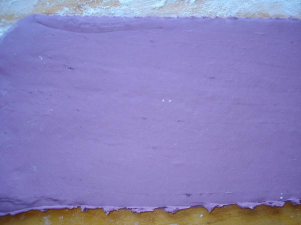 紫薯双色豆沙包的做法图解