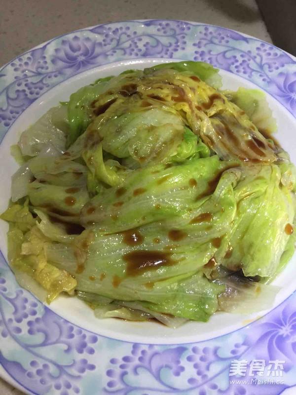白灼西生菜怎么吃