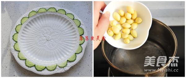 白果烩油菜的做法图解