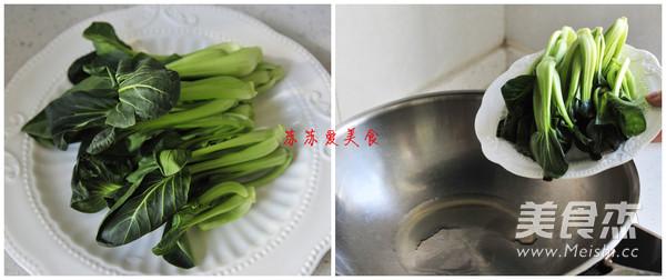 白果烩油菜的家常做法