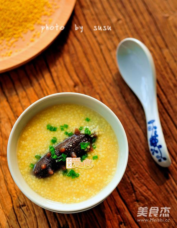海参小米粥成品图