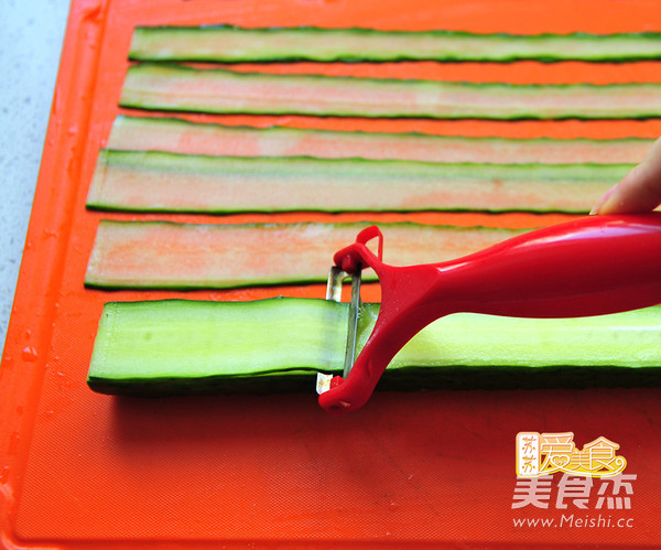 """好吃又好看的""""网红""""响油黄瓜卷的做法大全"""