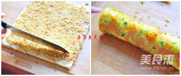 香葱肉松面包卷怎么做