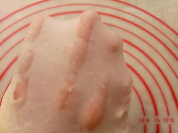 全麦花朵汉堡怎么吃