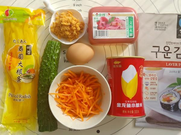 肉松紫菜包饭的做法大全