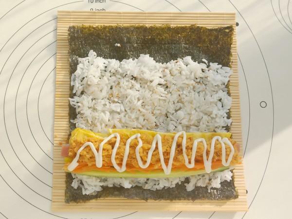 肉松紫菜包饭怎么炒