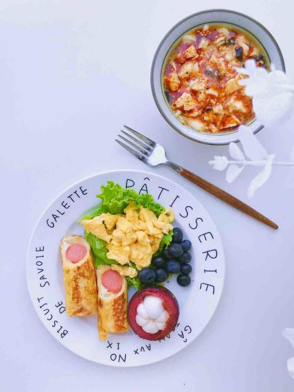 早餐吃什么—火腿吐司卷怎么煮