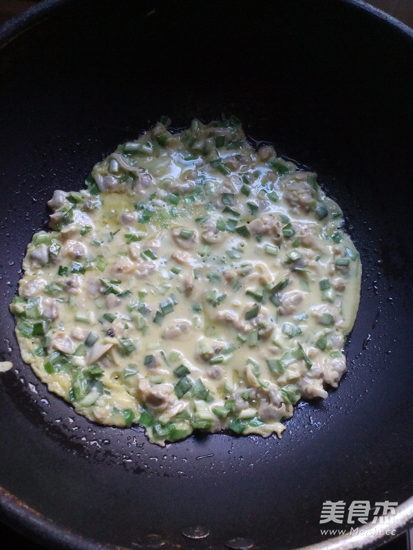 韭菜蛤蜊饼怎么煮