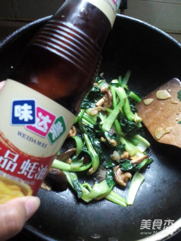 香菇炒油菜怎么煮