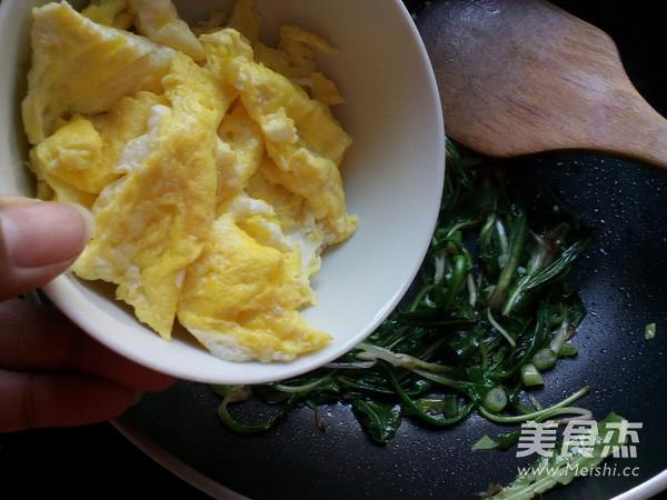 蒲公英炒鸡蛋怎么炒