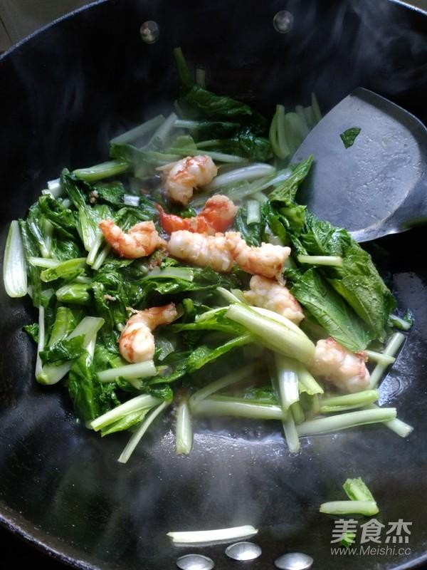 小白菜烧虾怎么煮