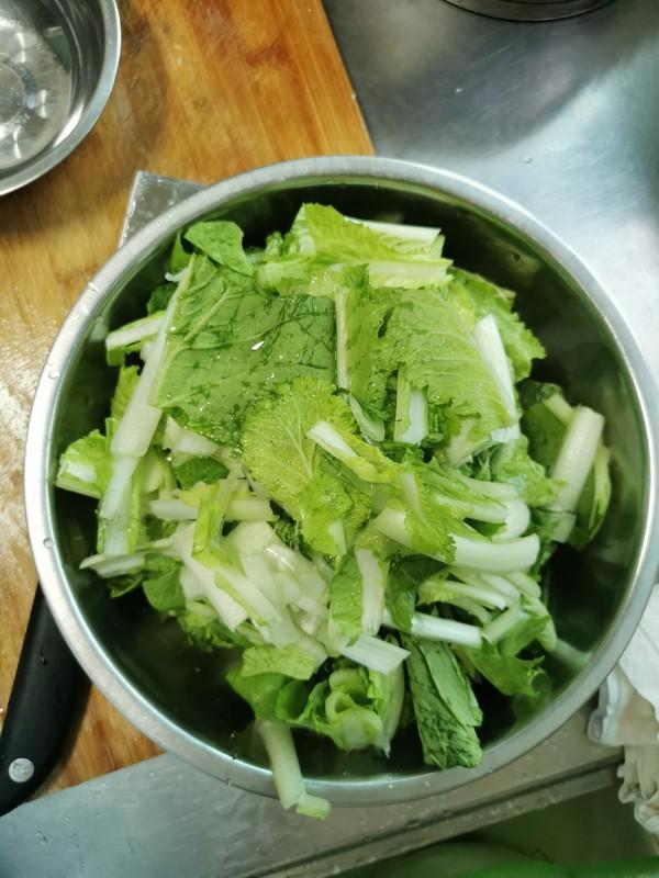 小白菜烧虾仁的做法图解