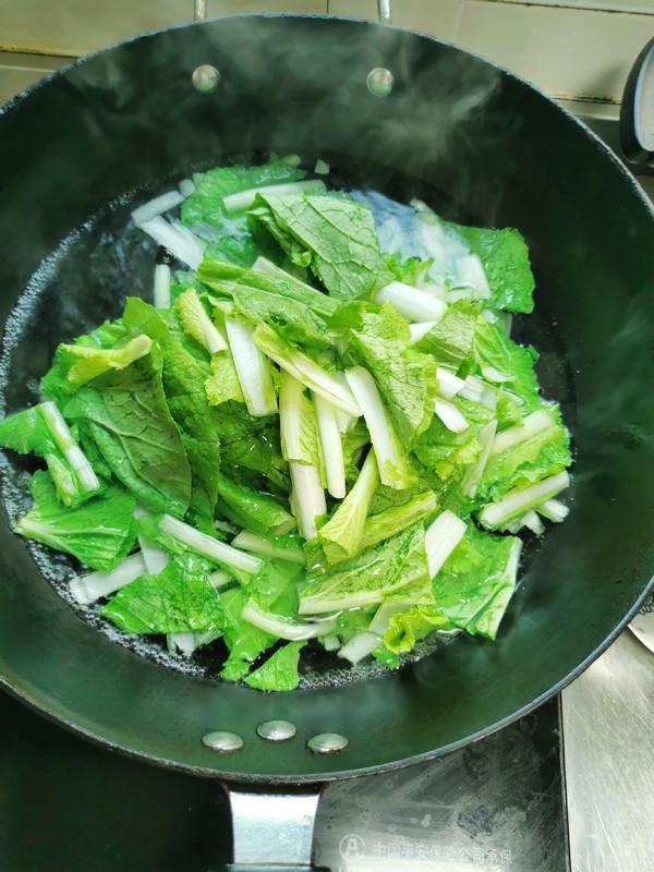 小白菜烧虾仁的家常做法
