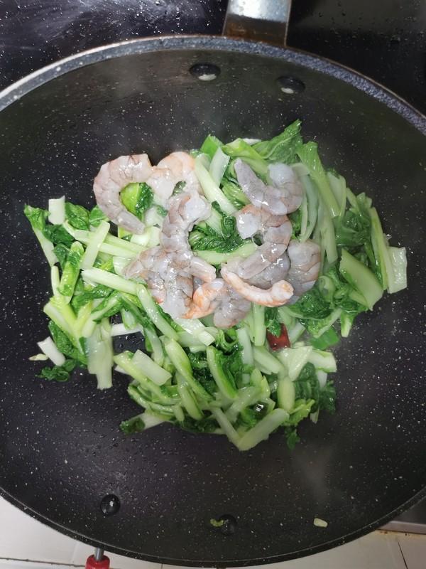 小白菜烧虾仁怎么做