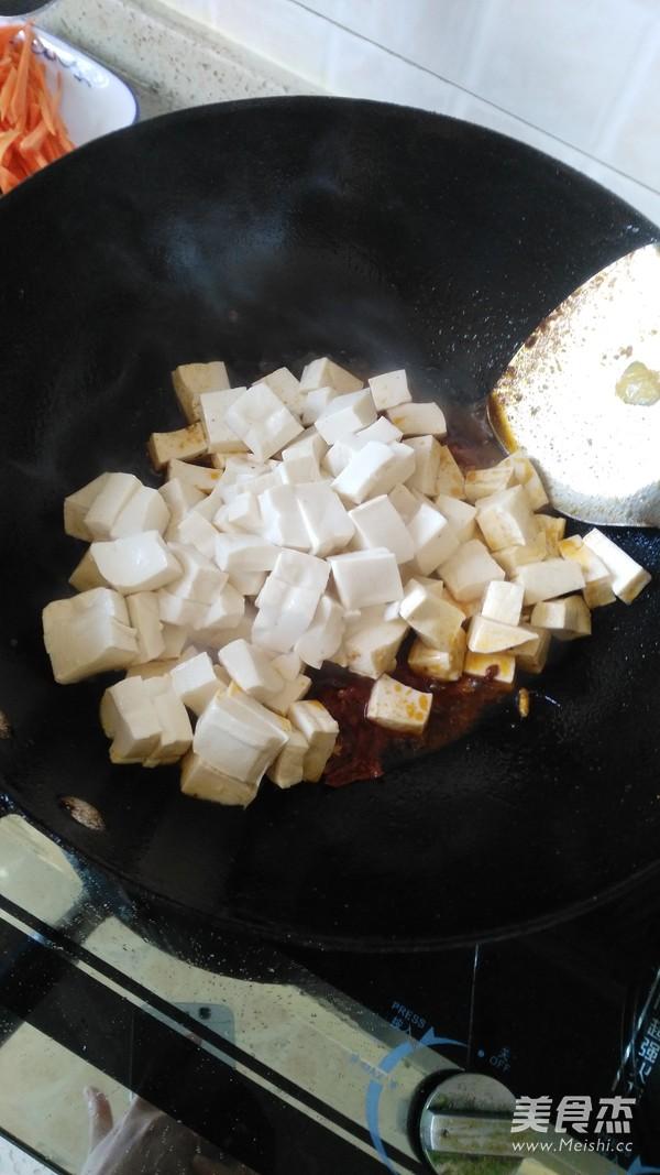豆腐炒肉丁怎么做