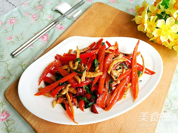 红辣椒炒肉丝怎么做