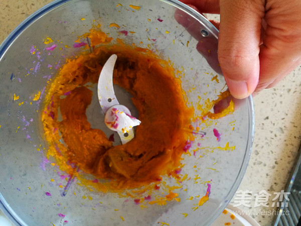 紫薯馅三色冰皮月饼怎么做