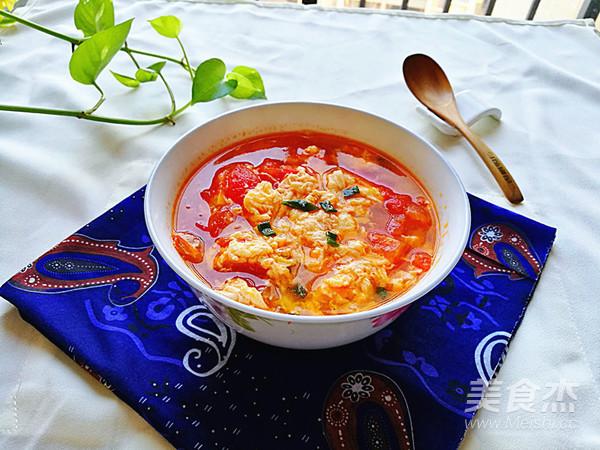 西红柿鸡蛋汤的制作