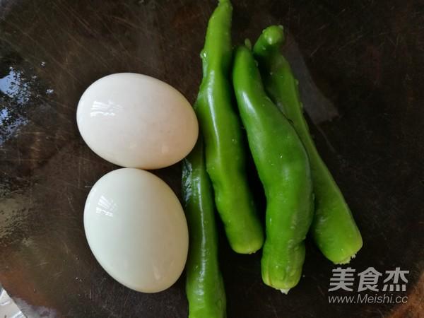 青椒炒鸭蛋的做法大全