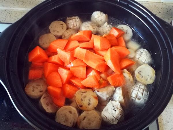 咖喱香菇丸子淮山胡萝卜煲怎么煮