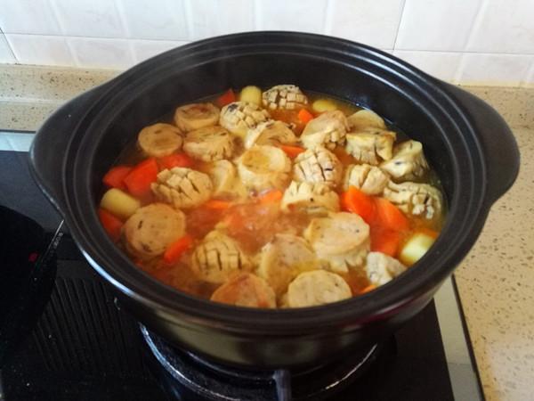 咖喱香菇丸子淮山胡萝卜煲怎么煸