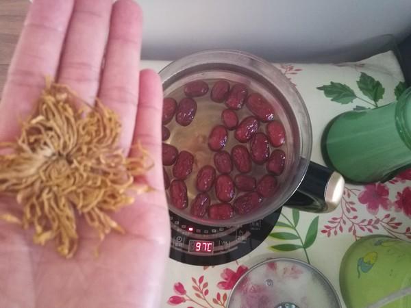 红枣桂圆菊花枸杞养生茶怎么炒