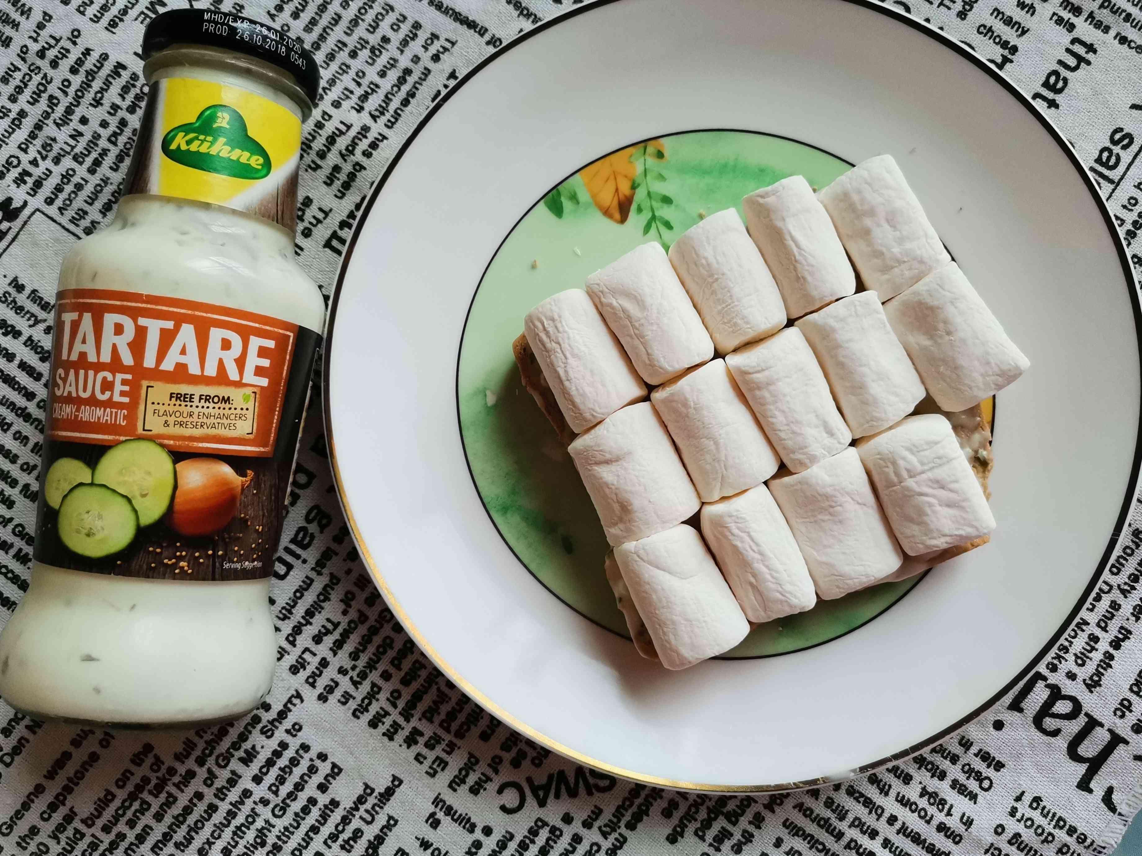 棉花糖烤全麦吐司的家常做法