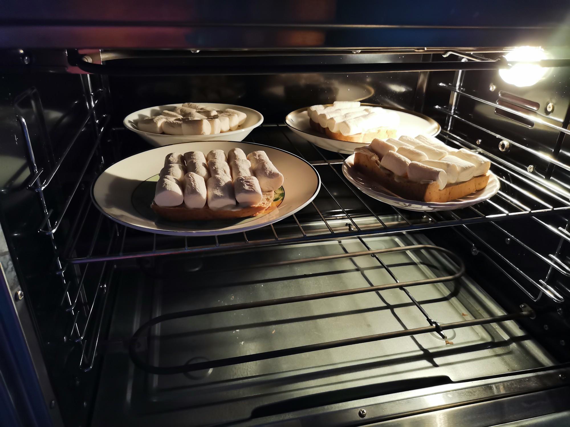 棉花糖烤全麦吐司的简单做法