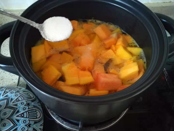 木瓜牛奶甜汤的做法图解