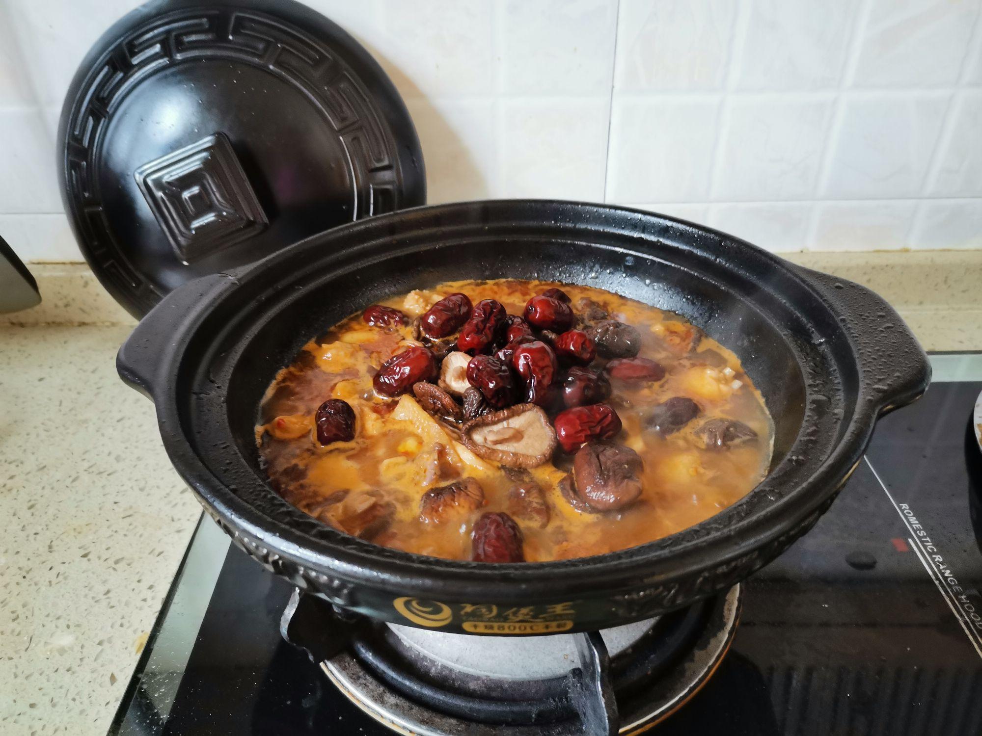 萝卜香菇鸡肉煲的简单做法