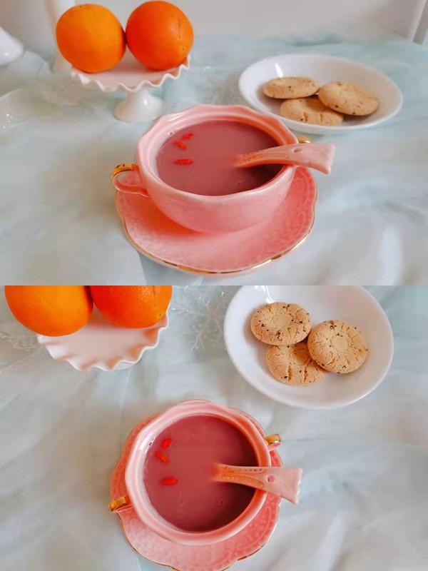 红豆豆浆成品图