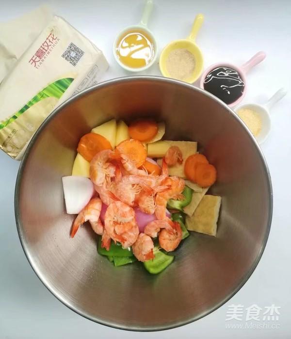 时蔬虾仁烤串的家常做法