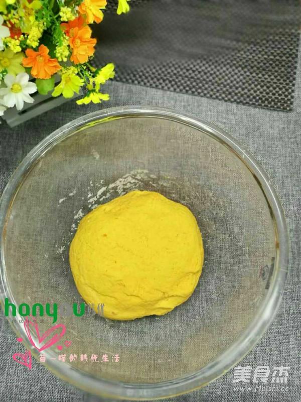 南瓜猪猪豆沙包的做法图解