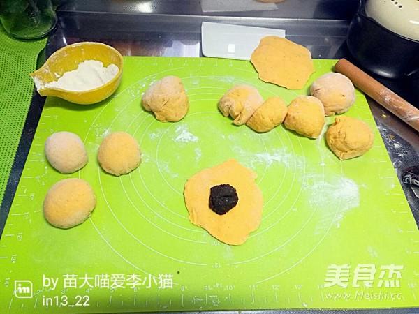 南瓜猪猪豆沙包的简单做法