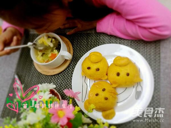 南瓜猪猪豆沙包怎么做