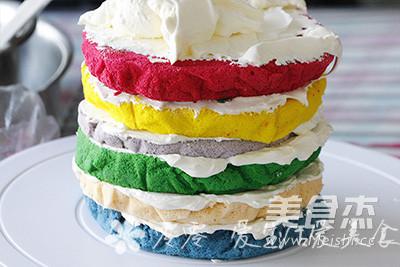 彩虹蛋糕怎样炖