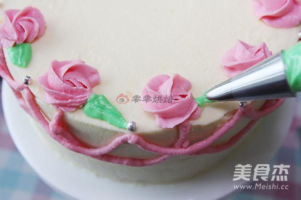 双重口味裱花蛋糕的做法大全