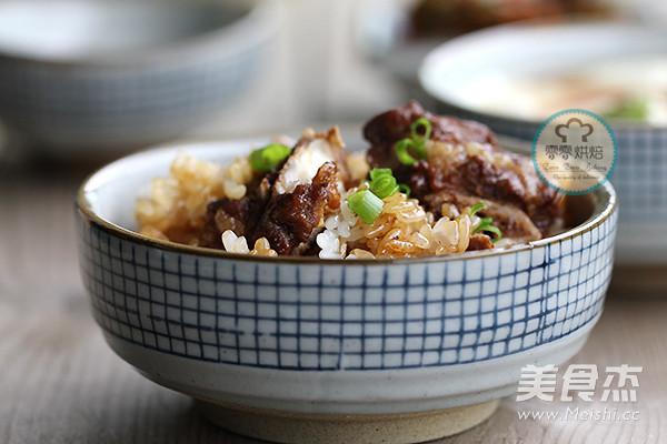 排骨糯米饭成品图