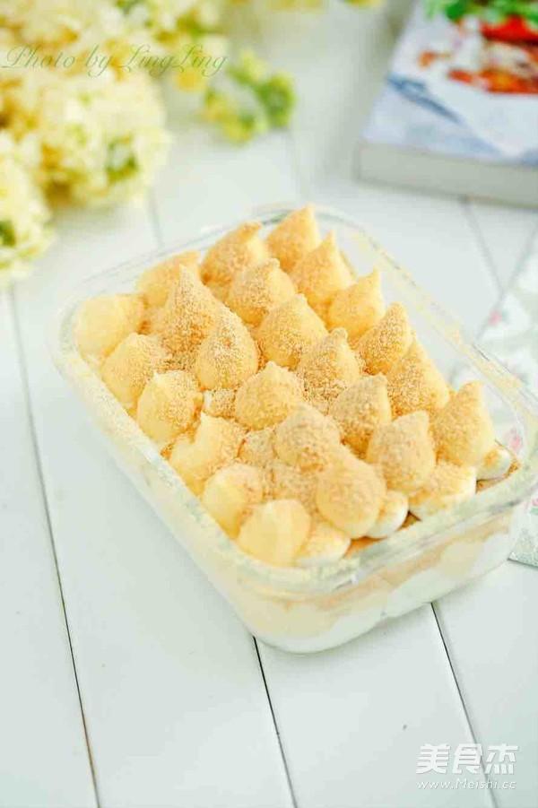 豆乳盒子蛋糕成品图