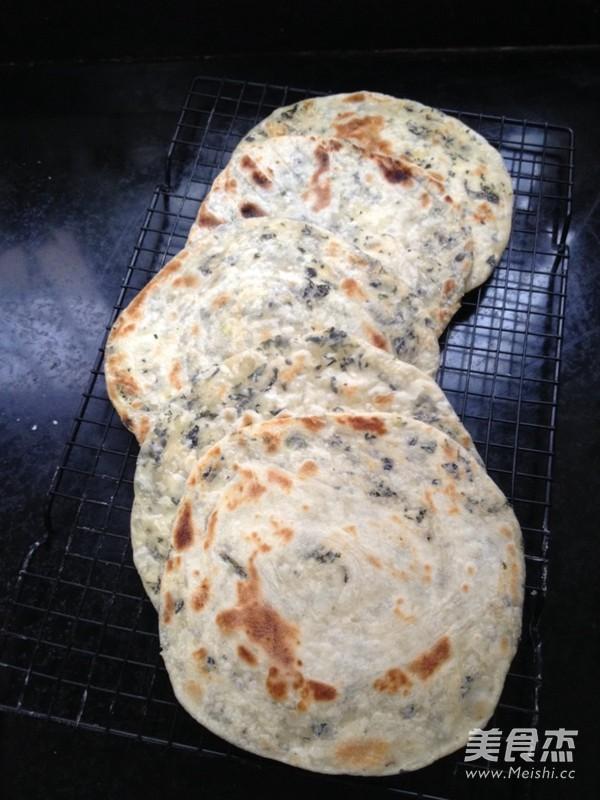 紫苏千层饼的制作