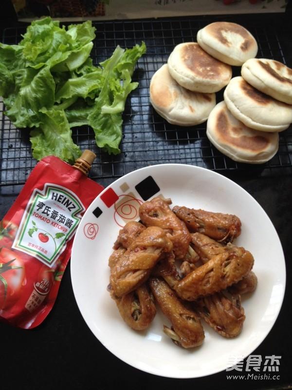 中式蜜汁鸡翅汉堡怎么做
