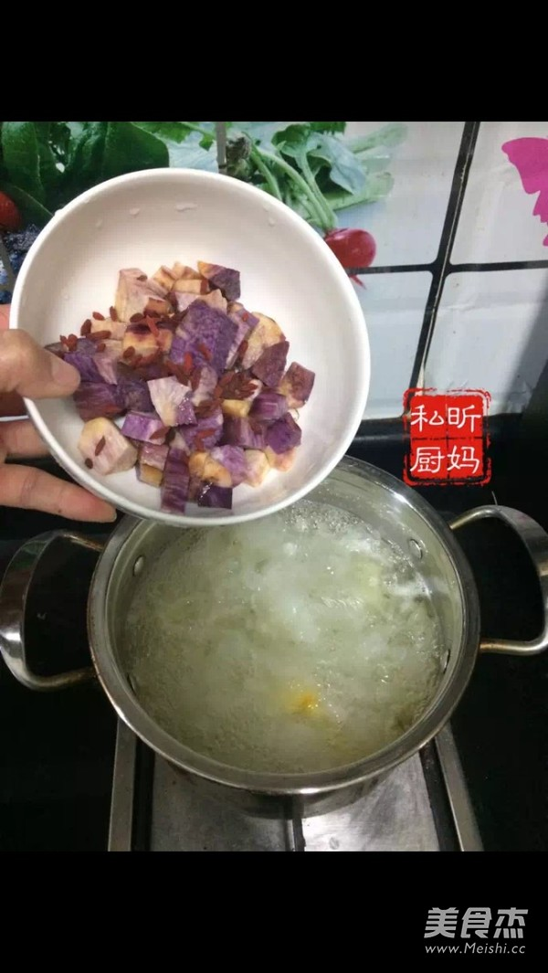 紫薯银耳羹的简单做法