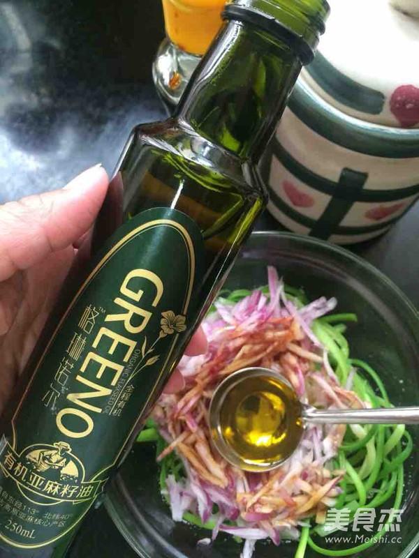 亚麻籽油拌双丝的简单做法